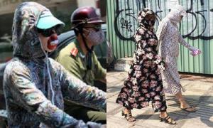Muôn kiểu thời trang chống nắng của hội 'ninja đường phố'