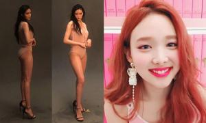 Sao Hàn 11/5: Hyo Min khoe trọn đường cong, Na Yeon cười lộ răng thỏ cute