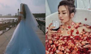 Sao Việt 5/6: Midu khoe sắp thành cô dâu, BB Trần gợi cảm 'chết người' trong bồn tắm