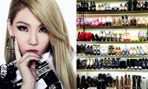 Phát 'hờn' với tủ giày nhìn như shop hàng hiệu của CL (2NE1)