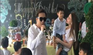Trấn Thành hát mừng sinh nhật con trai Hồ Ngọc Hà và Cường Đô La