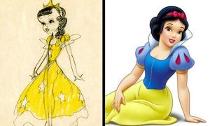Tạo hình phác thảo đến đời thật của các nhân vật hoạt hình yêu thích