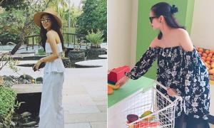 Sao Việt 5/7: Kỳ Duyên khoe vai gầy mong manh, Tâm Tít mặc sexy khi mang bầu