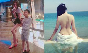 Sao Việt 7/7: Subeo chân dài không kém mẹ, Huyền Baby khoe hõm lưng sexy