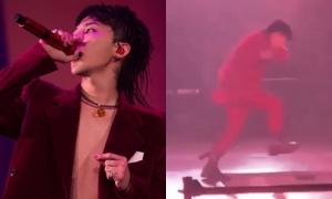 G-Dragon bất ngờ lọt hố trên sân khấu concert ở Thái Lan