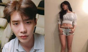 Sao Hàn 12/7: Hyo Min diện đồ siêu ngắn, Lee Jong Suk phát mệt vì nóng