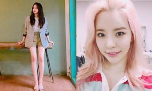 Sao Hàn 16/7: Kim So Hyun khoe chân dài hút mắt, Sunny tóc hồng cute