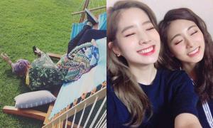 Sao Hàn 7/8: Baek Hyun chụp ảnh 'dìm' Chan Yeol, Da Hyun - Tzuyu đọ cute