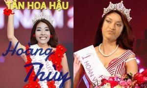 Hoàng Thùy - Mai Ngô bị chế ảnh 'không thương tiếc' khi thi Hoa hậu Hoàn vũ 2017