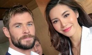 Minh Tú xinh đẹp phỏng vấn dàn sao 'Thor: Ragnarok' tại Australia