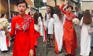 Ngô Thanh Vân bị hiểu lầm là cô dâu vì... quá nổi bật