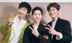 Hội bạn thân trai đẹp 'chơi trội' trong đám cưới của Song Joong Ki