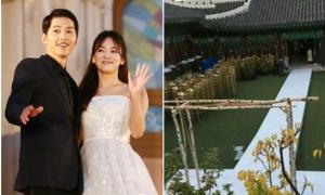 Lễ đường đám cưới Song - Song bỏ bạt che vì truyền thông Hàn chê bai