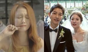 Đinh Hương khóc ròng cover 'Đừng hỏi em' khi biết Song Joong Ki đi lấy vợ