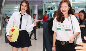 Phạm Hương, Bích Phương diện tông đen trắng ở sân bay