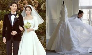 Quá trình tạo nên chiếc váy cưới 3 tỷ đồng của Song Hye Kyo