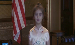Cháu gái Tổng thống Trump hát, đọc thơ cổ Trung Quốc