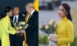 Cô gái nổi tiếng sau bức ảnh tặng hoa cho Tổng thống Donald Trump
