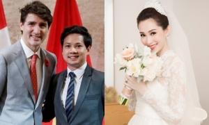 Phản ứng của Thu Thảo khi chồng khoe ảnh với Thủ tướng Canada