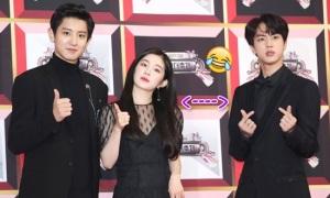 'Idol đẹp trai toàn cầu' Jin nhút nhát khi đứng cạnh Irene