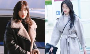 Tae Yeon khoe style đẳng cấp, Seol Hyun như đi catwalk ở sân bay
