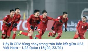 Muôn kiểu tổ chức xem U23 Việt Nam đá bán kết trước giờ G