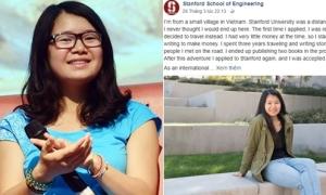 Chia sẻ của Huyền Chip 'gây sốt' trên fanpage Đại học Stanford