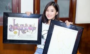 Hoàng Yến Chibi được fan từ Mỹ tặng ngôi sao mang tên mình