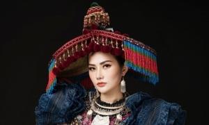 Diệu Linh mang trang phục 'sơn nữ H'Mông' đến Nữ hoàng Du lịch Quốc tế 2018