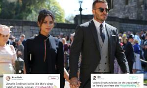 Victoria Beckham bị ném đá vì 'mặt lạnh như tiền' tại đám cưới Hoàng tử Anh