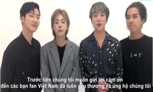 Winner nhắn fan Việt: 'Các bạn gợi ý món gì ngon cho chúng tôi đi'