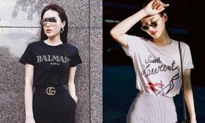 Bóc giá loạt áo phông đơn giản, giá cực chát của sao Việt