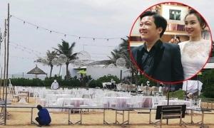 Không gian tiệc đính hôn bên bờ biển của Trường Giang - Nhã Phương