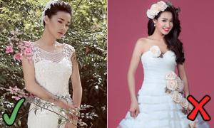 Nhã Phương diện váy cưới: Càng 'lồng lộn' càng sến