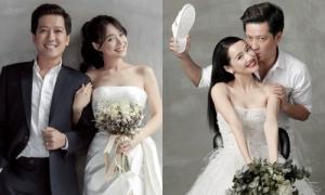 Nhã Phương - Trường Giang hết ngọt ngào lại nhắng nhít trong bộ ảnh cưới đầy đủ