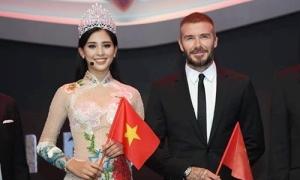 Trần Tiểu Vy: 'David Beckham ngoài đời điển trai, thân thiện hơn nhiều'