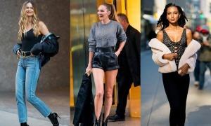 Dàn thiên thần nội y đọ dáng khi đi thử đồ cho Victoria's Secret Fashion Show