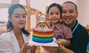 Phạm Quỳnh Anh - Quang Huy chụp ảnh chung vì con