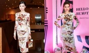 Ngọc Duyên không thua kém Hà Hồ khi diện chung váy hiệu