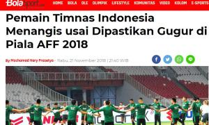 Indonesia bị loại ngay vòng bảng AFF: Tuyển thủ bật khóc, người hâm mộ quay lưng