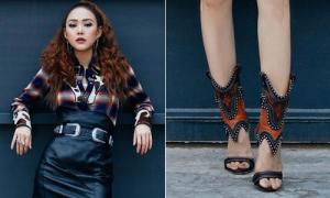 Minh Hằng lại mắc sai lầm chọn giày khiến 'chân không dài càng thêm ngắn'
