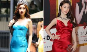 Váy lụa bóng: 'Khắc tinh' của sao Việt, biến dáng đẹp cũng thành xấu