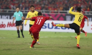 Bàn thắng mở tỷ số đẹp mắt của Anh Đức trong trận chung kết lượt về