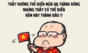 Fan chế ảnh cảm ơn HLV Park Hang-seo khi Việt Nam vô địch