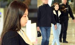 Black Pink đọ mặt mộc ở sân bay, Jennie bất ngờ kém sắc