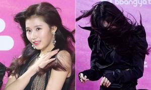Mỹ nhân Hàn khốn khổ vì bị 'gió đùa' trên thảm đỏ Seoul Music Awards