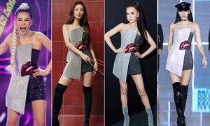 Cùng một bộ váy, cả 'chân dài' và 'chân ngắn' Việt đều diện đẹp