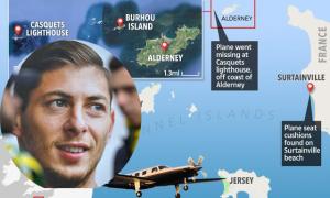 Tìm thấy dấu vết của máy bay chở cầu thủ '20 triệu USD'