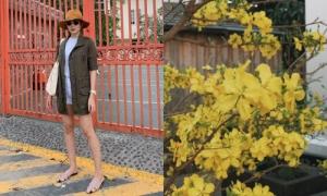 Biệt thư triệu đô của Tăng Thanh Hà tràn ngập sắc hoa đón Tết