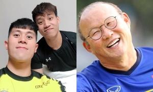 HLV Park Hang-seo gặp 'trò cưng' Đình Trọng, Văn Thanh ở Hàn Quốc